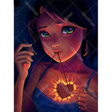Girl With Shinning Heart 5D DIY Paint By Diamond Kit