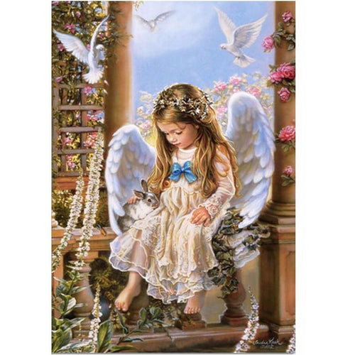 Angel Girl 5D DIY Paint By Diamond Kit - Paint by Diamond