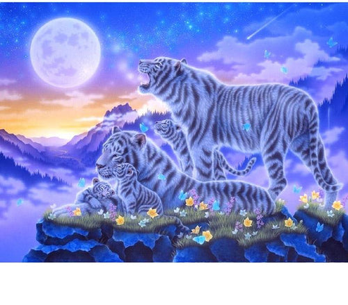 Tiger Family 5D DIY Paint By Diamond Kit