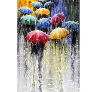Colorful Umbrellas 5D DIY Paint By Diamond Kit