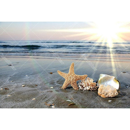 Starfish Beach 5D DIY Paint By Diamond Kit