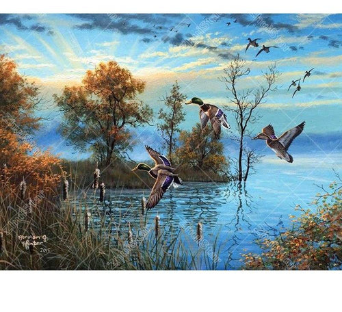 Riverside Scenery 5D DIY Paint By Diamond Kit