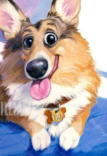 Cartoon Corgi 5D DIY Paint By Diamond Kit