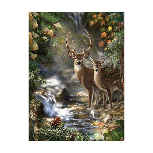 Deer Diamond Painting 5D DIY Paint By Diamond Kit