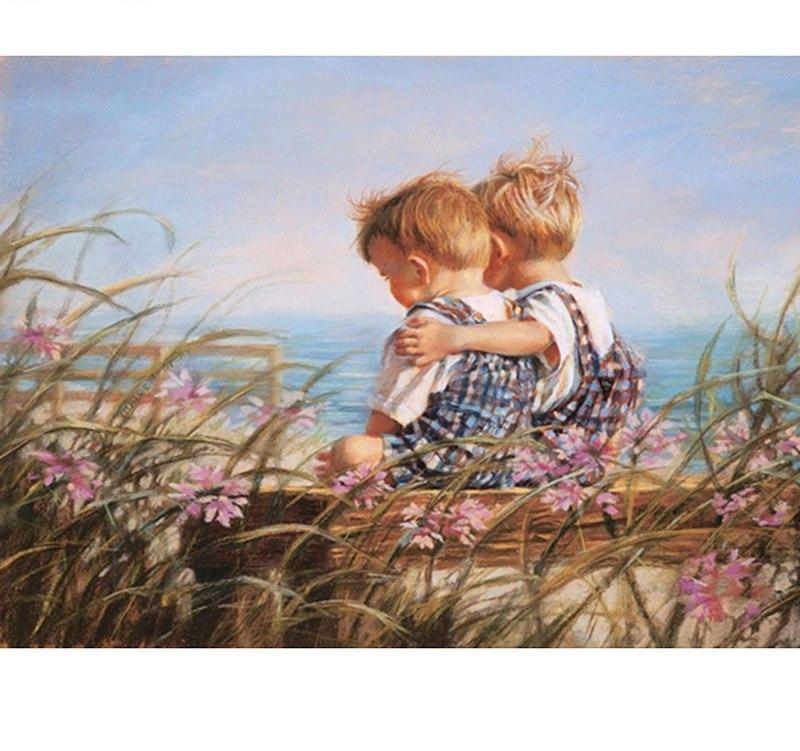 Two Baby Boys 5D DIY Diamond Painting