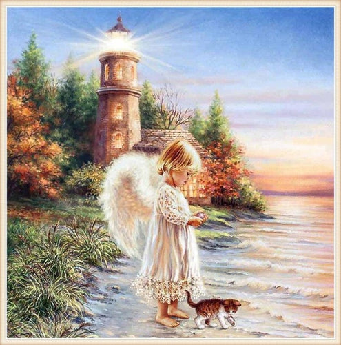 Angel Light Needlework 5D DIY Paint By Diamond Kit