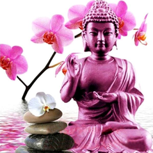 Purple Buddah 5D DIY Paint By Diamond Kit
