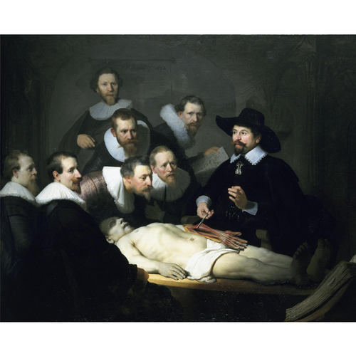 The Anatomy Lesson of Dr. Nicolaes Tulp - Rembrandt 5D DIY Paint By Diamond Kit