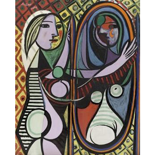 Girl Before A Mirror - Pablo Picasso 5D DIY Paint By Diamond Kit