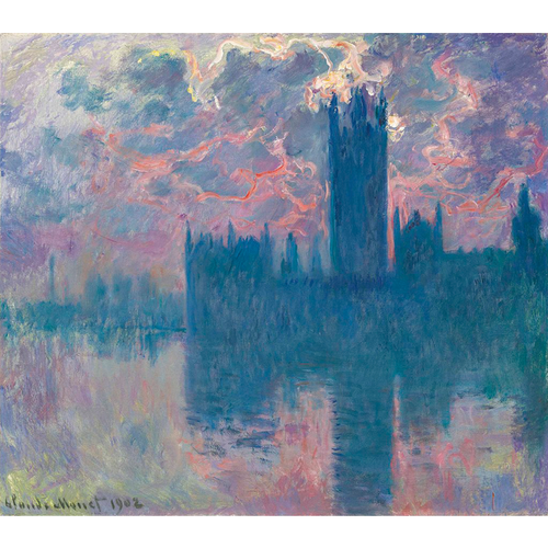Houses Of Parliament Series - Claude Monet 5D DIY Paint By Diamond Kit