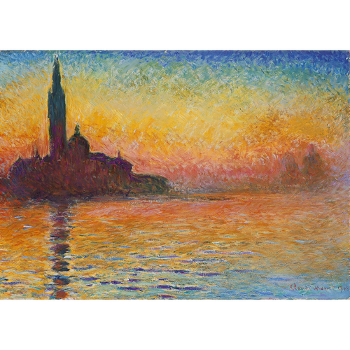San Giorgio Maggiore At Dusk - Claude Monet 5D DIY Paint By Diamond Kit