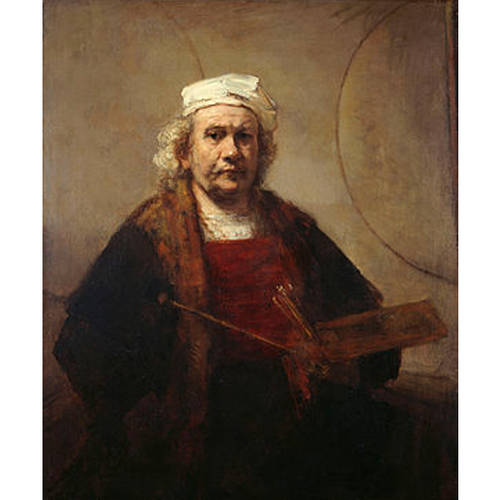 Self-Portrait with Two Circles by Rembrandt - Rembrandt 5D DIY Paint By Diamond Kit