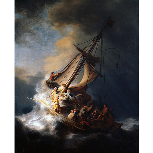 The Storm on the Sea of Galilee - Rembrandt 5D DIY Paint By Diamond Kit