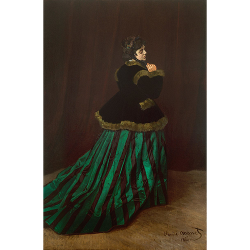 The Woman In The Green Dress - Claude Monet 5D DIY Paint By Diamond Kit