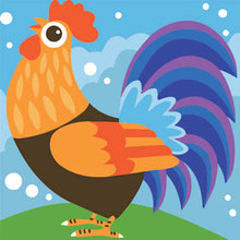 Morning Rooster 5D DIY Paint By Diamond Kit