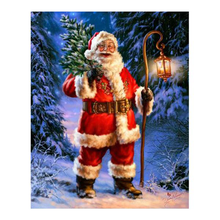Santa Christmas Tree 5D DIY Paint By Diamond Kit