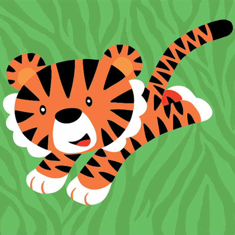 Brave Tiger 5D DIY Paint By Diamond Kit