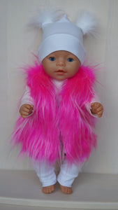 Fur vest for Baby Born (sister) or other doll 43 cm