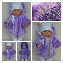 Load image into Gallery viewer, Fur coat, jacket for Baby Born, Baby Born Sister, Baby Annabell or other doll till 43 cm