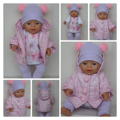 Pink handmade jacket for Baby Born, Baby Born Sister, Baby Annabell or other doll till 43 cm