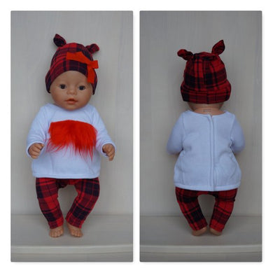 17in sweet Christmas clothes set outfit for Baby Born, Baby Born Sister or other doll till 43 cm
