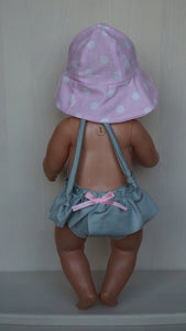 Grey, silver swimming suite for Baby Born (sister)or other doll, baby Born doll swimming clothes, doll bathrobe, doll swimsuit, doll bikini