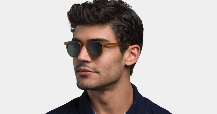 Garrett Leight - Brooks - Champagne with semi-flat blue smoke - Niche Bazaar Studio