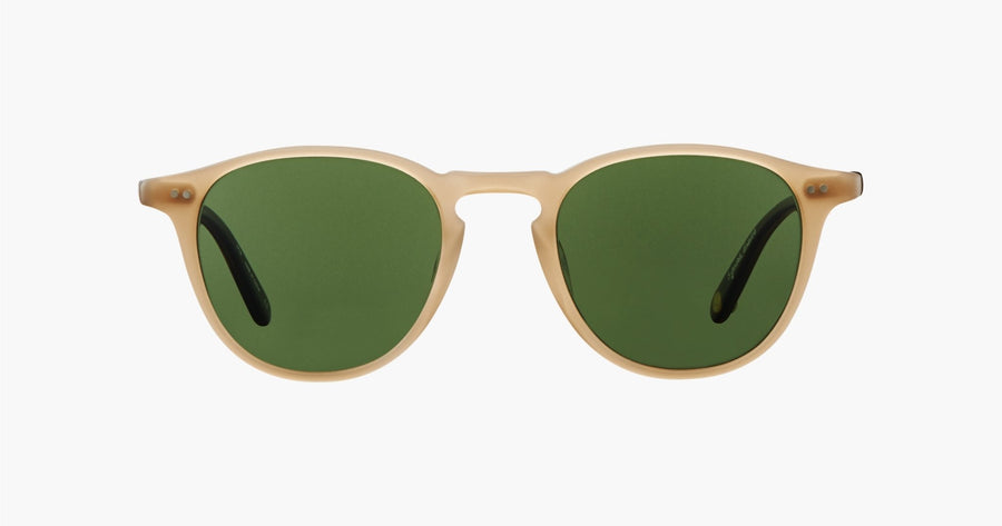 Garrett Leight - Hampton - Bone-Matte Brandy Tortoise With Pure Green Glass - Niche Bazaar Studio