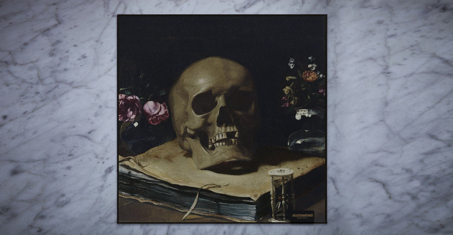 Jacques Marie Mage | Cleaning Cloth | Vanitas Skull Rose - Niche Bazaar Studio
