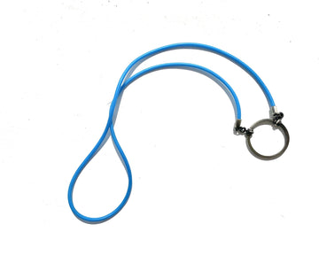 La Loop | Blue Rubber with Silver plated loop - Niche Bazaar Studio