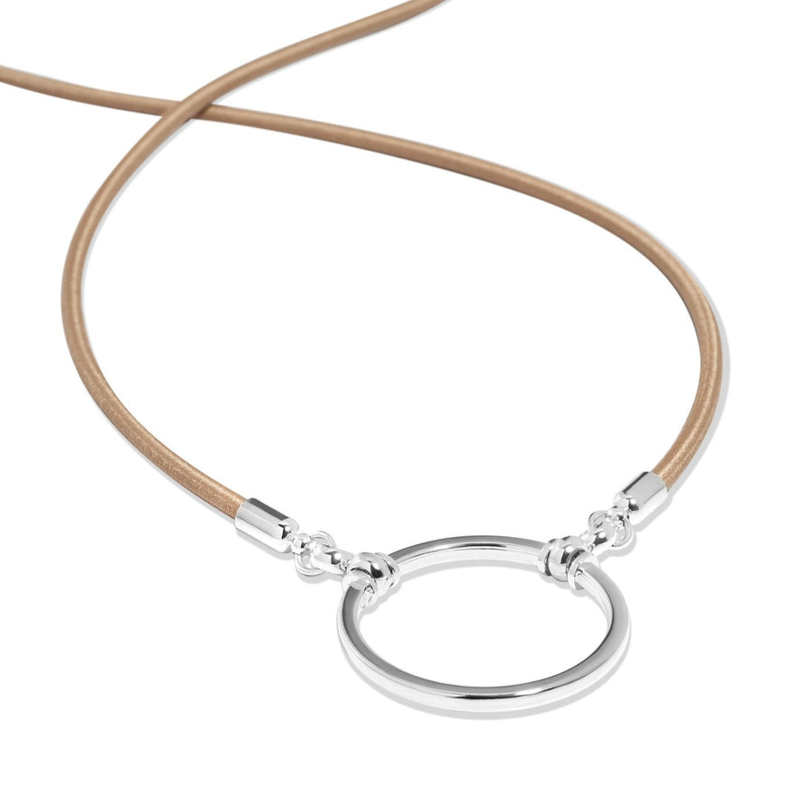 La Loop | Sand Stretch with Silver Plated Loop - Niche Bazaar Studio