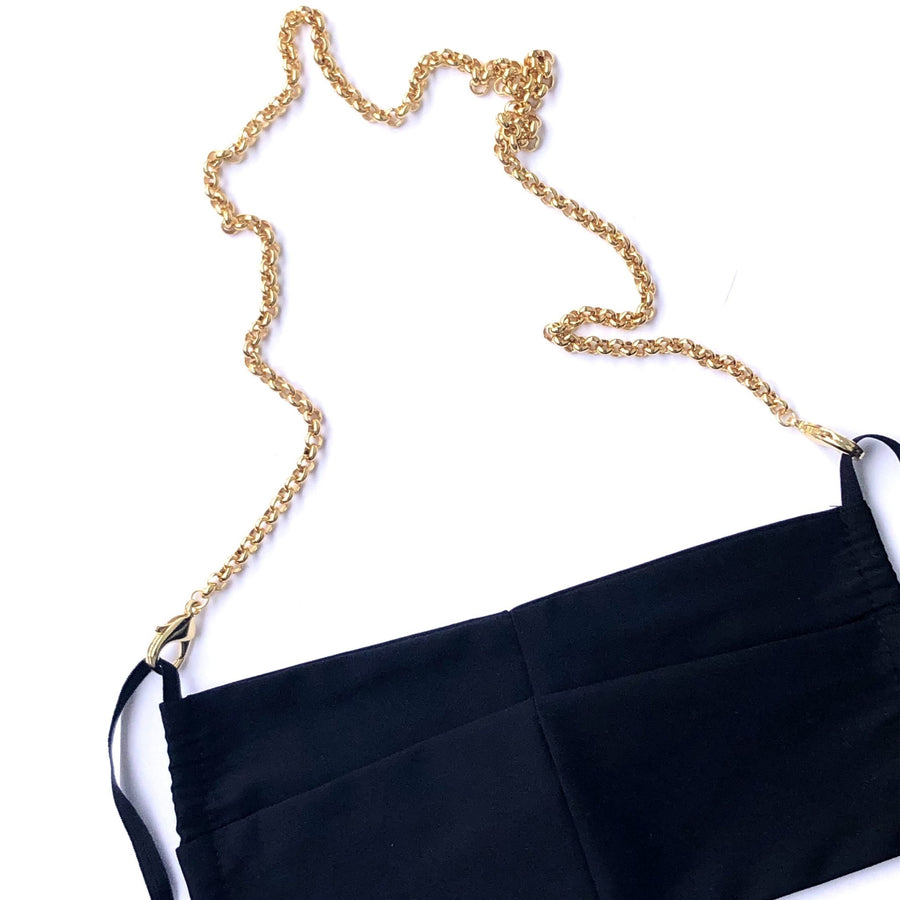 LaMask The Gold Plated Rolo Chain with Black Mask - Niche Bazaar Studio