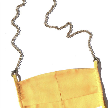 LaMask The Gold Plated Rolo Chain with Yellow Mask - Niche Bazaar Studio