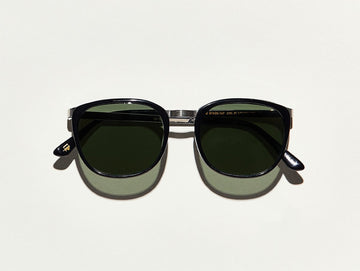 Moscot | Brude Sun - Black/Silver with custom blue lens - Niche Bazaar Studio