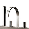 Lacava Maya  Deck Mount Faucets Four Hole Tub Filler