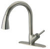 LaToscana single handle pull-down spray kitchen in Brushed Nickel