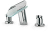 Morgana roman tub lavatory faucet with glass spout in Chrome