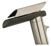 Morgana single handle lavatory faucet with wenge spout in Brushed Nickel