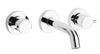 Elba wall-mount lavatory faucet in Chrome
