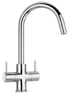 LaTascana Elba two handle pull-down kitchen faucet in Chrome
