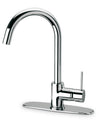 LaTascana Elba single handle pull-down kitchen faucet, stream only in Chrome