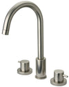 Elba widespread lavatory faucet in Brushed Nickel