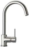 Elba single hole lavatory faucet with two handles in Brushed Nickel