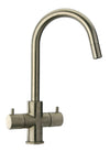 LaTascana Elba two handle pull-down kitchen faucet in Brushed Nickel