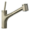 LaTascana Elba single handle joystick pull-out kitchen faucet with 2 function sprayer (stream/spray) in Brushed Nickel