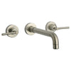 Morellino wall-mount lavatory faucet with lever handles in Brushed Nickel