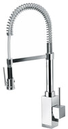 LaTascana Dax single handle kitchen faucet with spring spout in Chrome