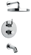Elix Thermostatic Tub and Shower Set With 2-Way Diverter Volume Control in Brushed Nickel