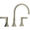 Elix widespread lavatory faucet in Brushed Nickel