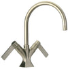 Elix single hole lavatory faucet in Brushed Nickel